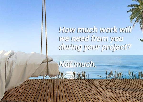 """Our """"whatever it takes"""" attitude means that you will be able to relax and watch your project come together seamlessly."""