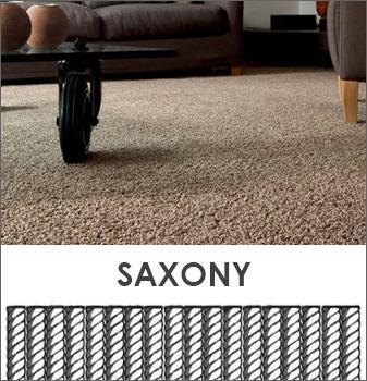 Saxony carpet is dense and elegant. It looks like velvet and feels as soft.